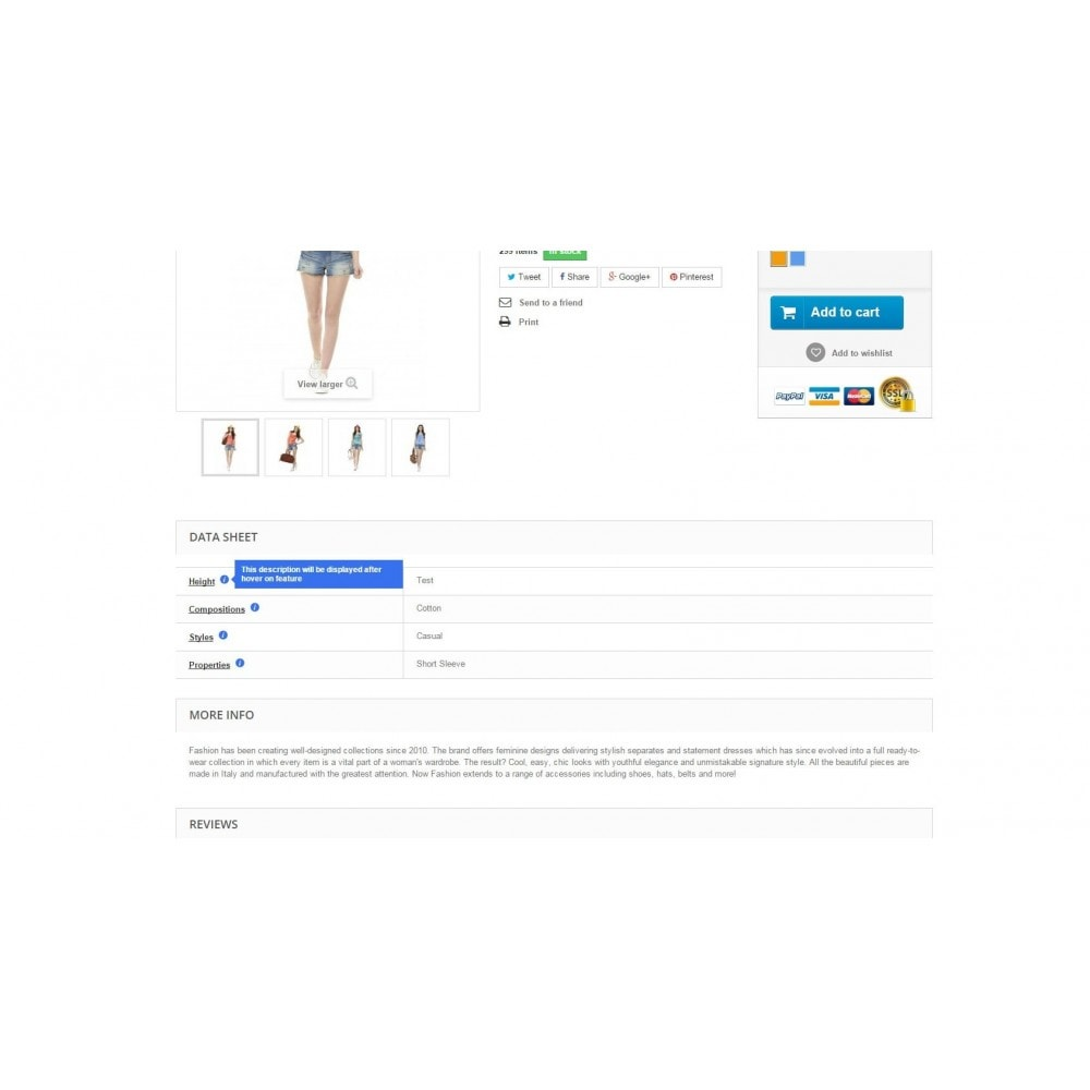 module - Altre informazioni & Product Tab - Features Hint - 3