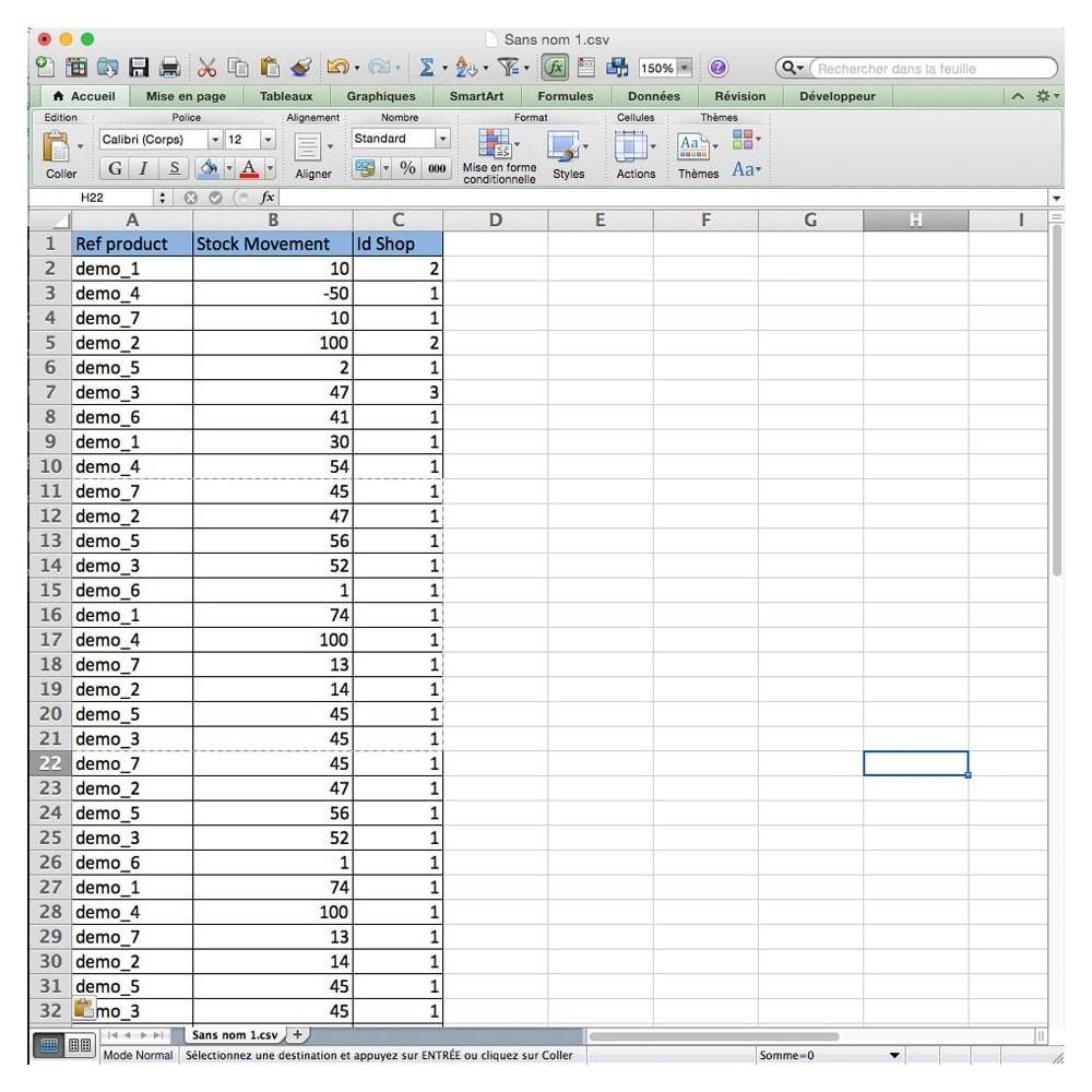 module - Import & Eksport danych (csv, pdf...) - Import Stock Movement - 2