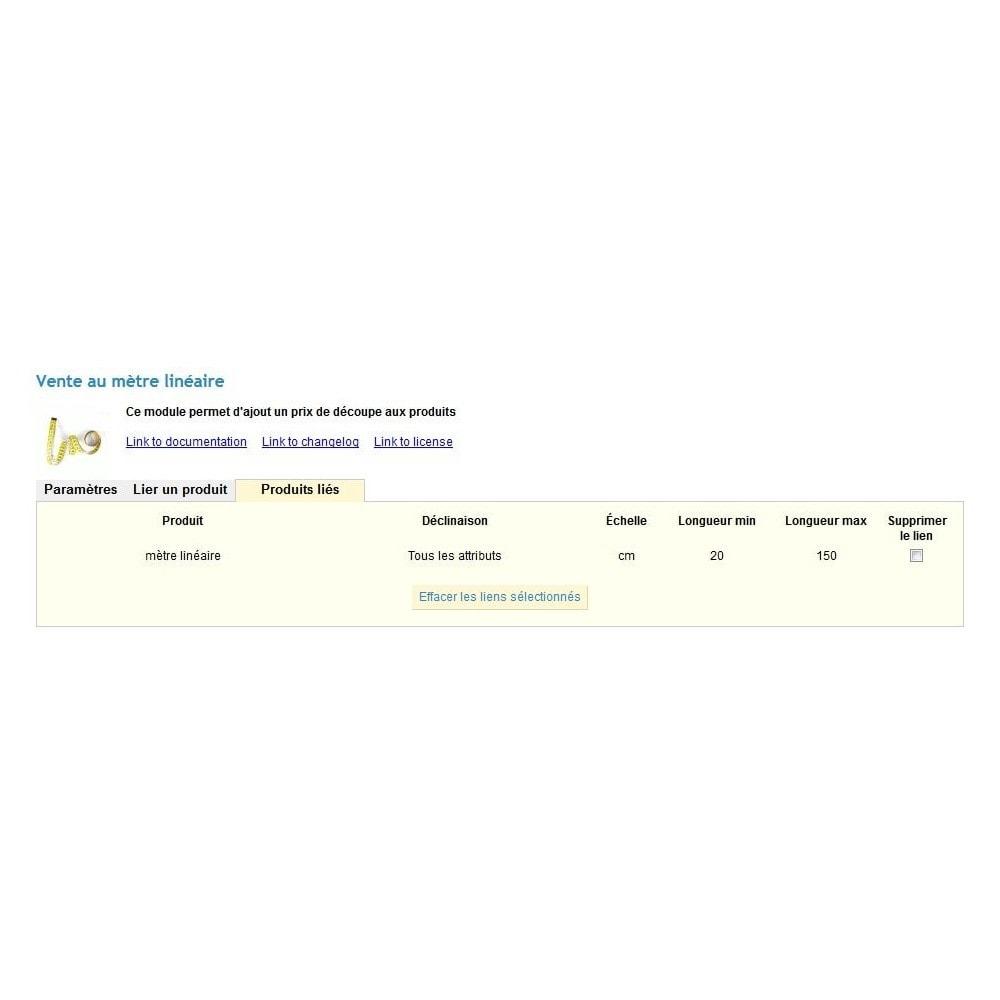 module - Tailles & Dimensions - Vente de produit au mètre linéaire, au kilo ou au litre - 6