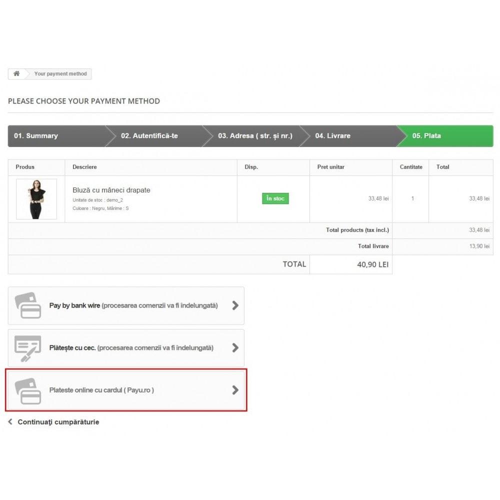 module - Paiement par Carte ou Wallet - PayU Romania,Turkey, Russia, Hungary, Ukraine - 2