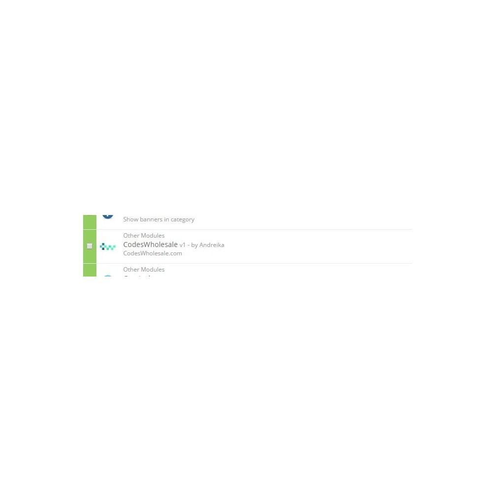 module - Prodotti Digitali - Game Codes Manager - 6