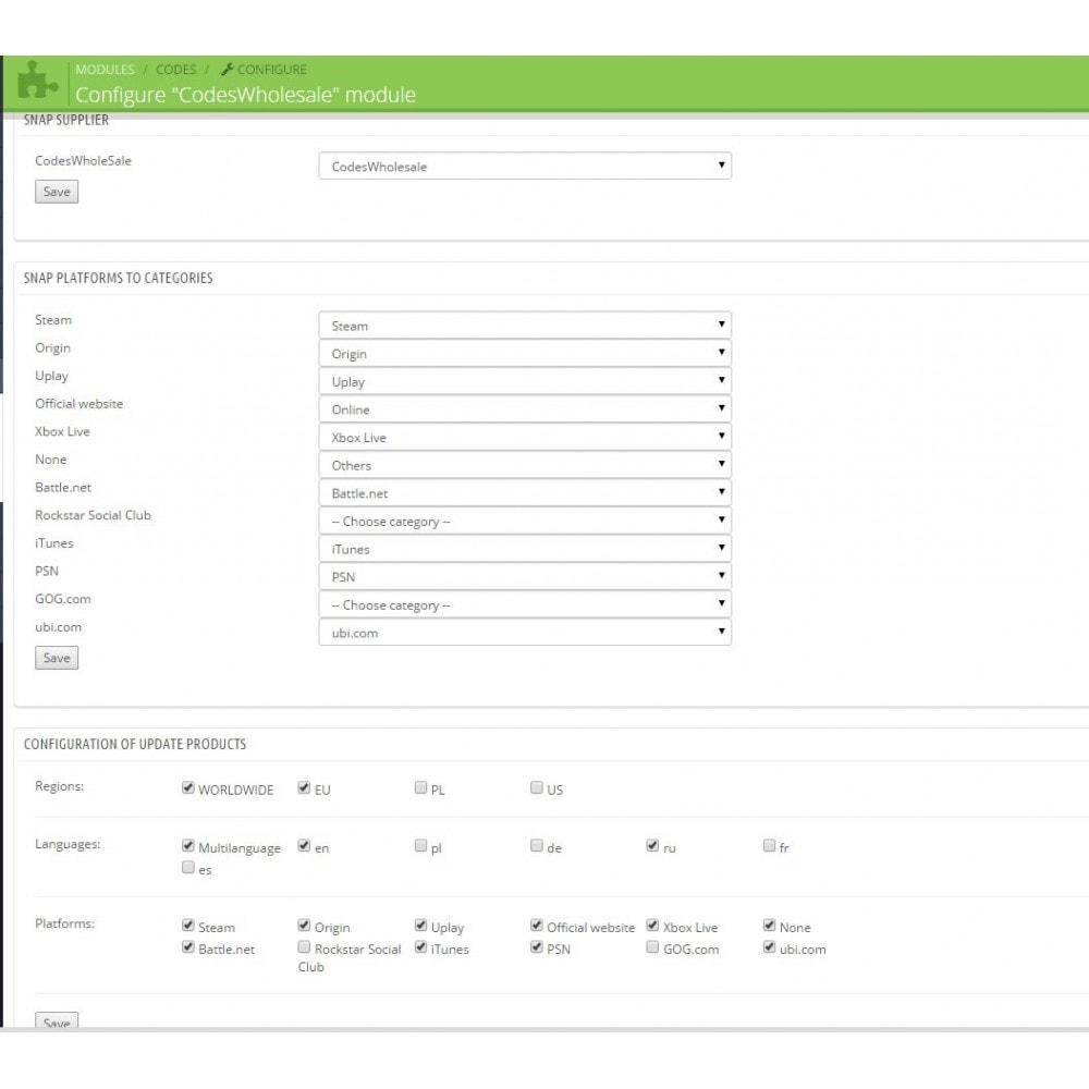 module - Prodotti Digitali - Game Codes Manager - 7