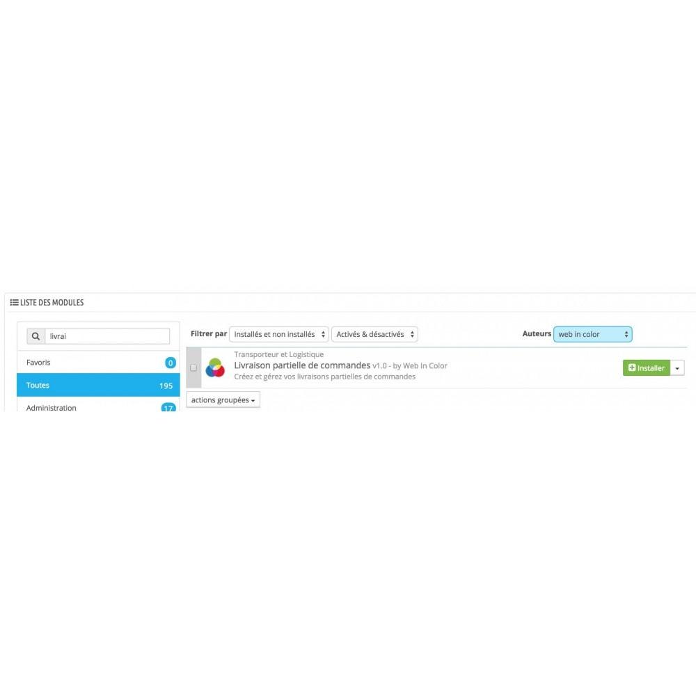 module - Voorbereiding & Verzending - Partial delivery - 2