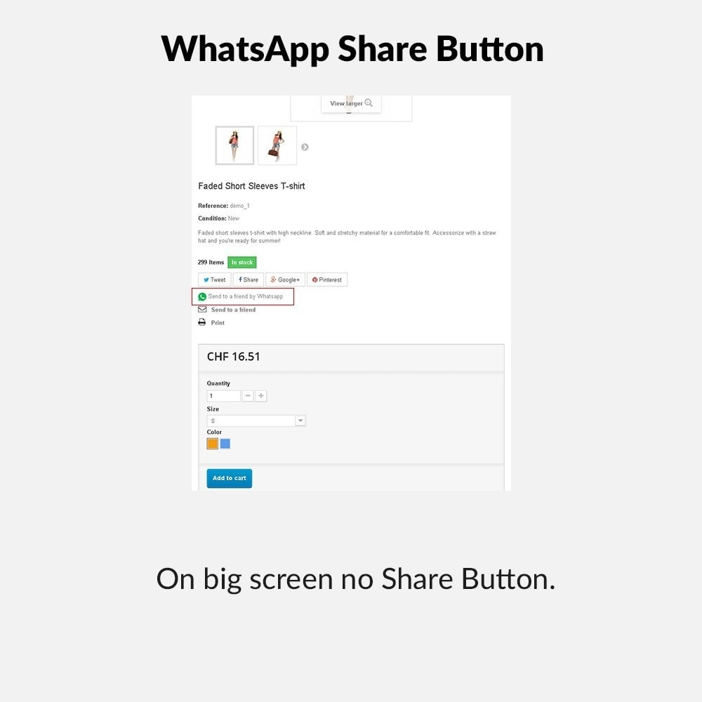 module - Deelknoppen & Commentaren - WhatsApp Share Button - 2