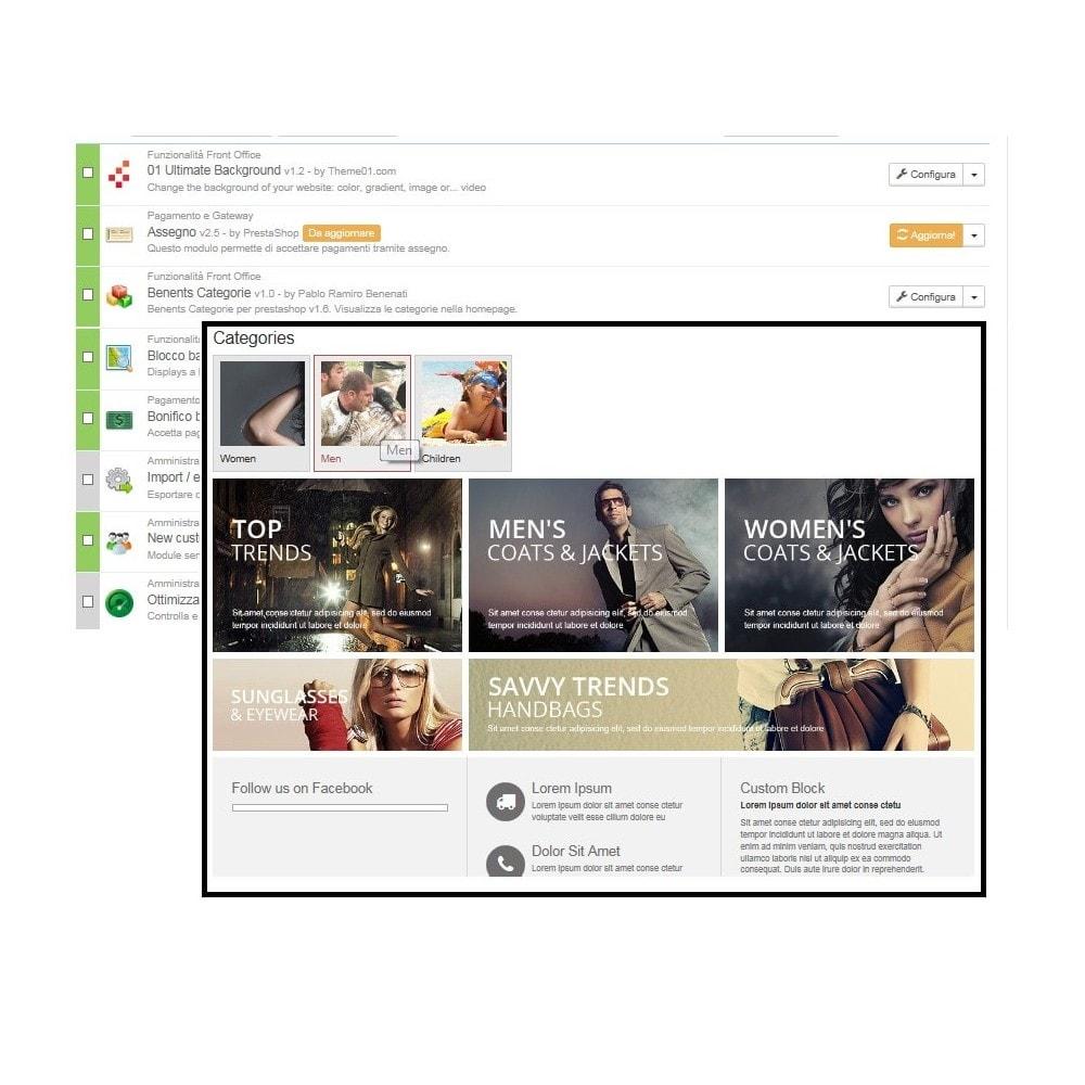 module - Prodotti su Home - Categorie in home page - 3