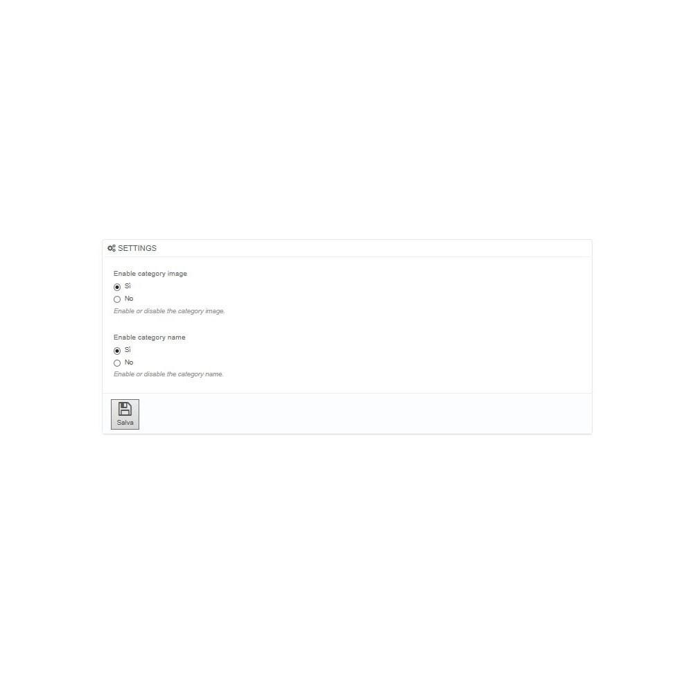 module - Produits en page d'accueil - Catégories sur la page d'accueil - 2