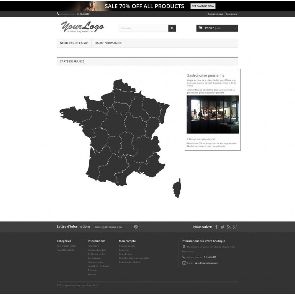 module - International & Localisation - Carte de France interactive et Responsive Design - 1