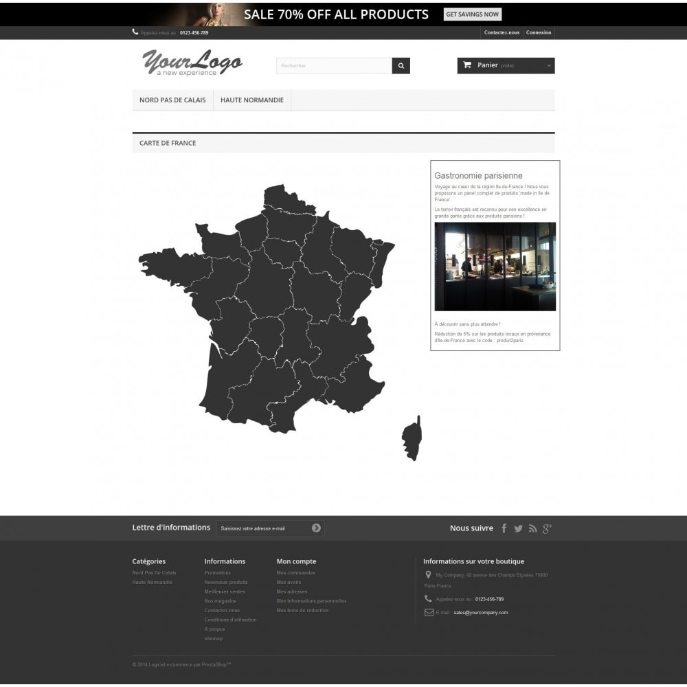 module - Internationalisierung & Lokalisierung - Interactive et responsive design map of France - 1