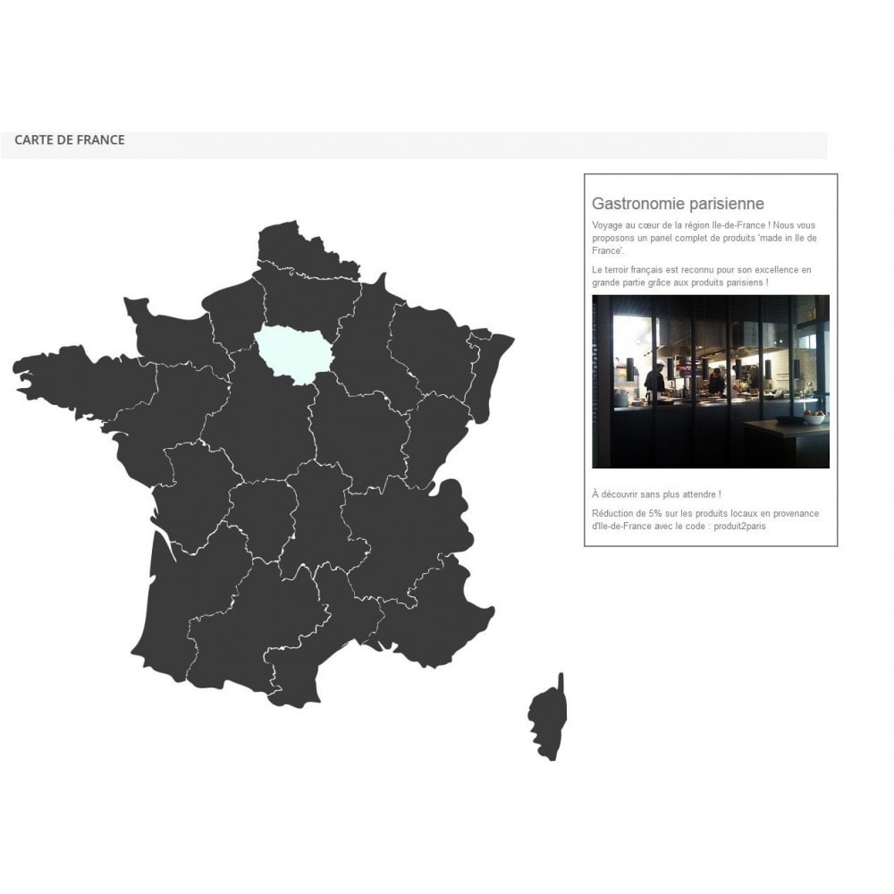 module - Internationalisierung & Lokalisierung - Interactive et responsive design map of France - 2
