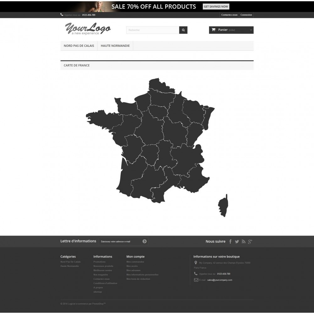 module - Internationalisierung & Lokalisierung - Interactive et responsive design map of France - 3