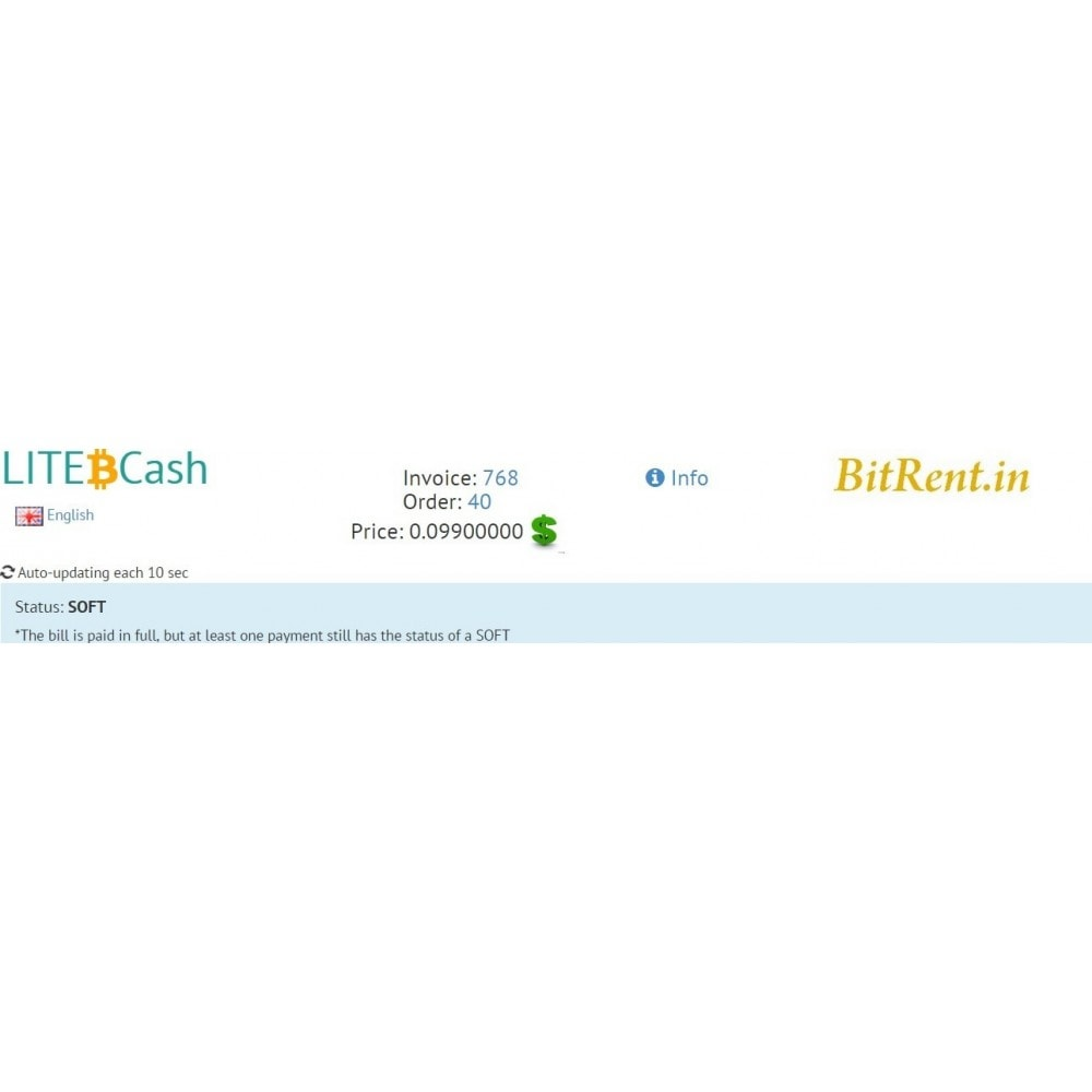 module - Autres moyens de paiement - Bitcoin and crypto-currencies by LITE.cash gateway - 5