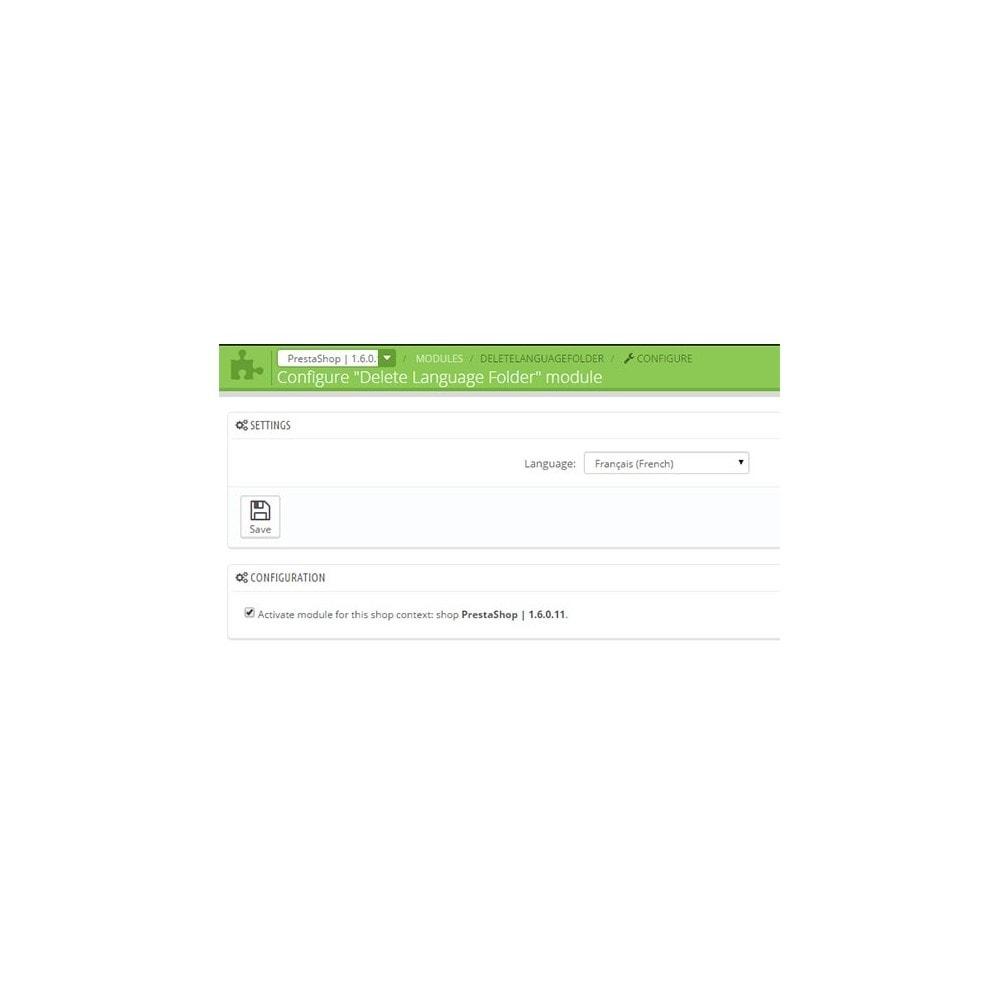 module - Internacional & Localização - Delete Language Folder - 1