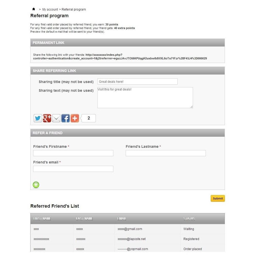 module - Fidélisation & Parrainage - J2T Point & Rewards + Referral Program - 7