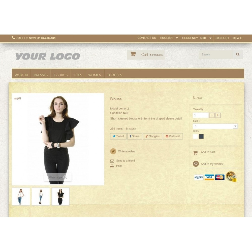 theme - Fashion & Shoes - Super Neutral - Prestashop Responsive 2 - 4