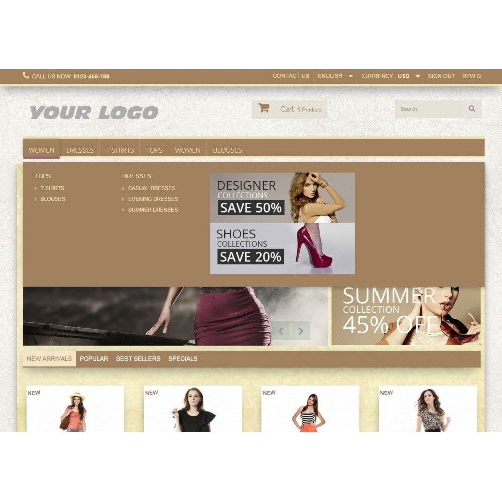 theme - Fashion & Shoes - Super Neutral - Prestashop Responsive 2 - 6