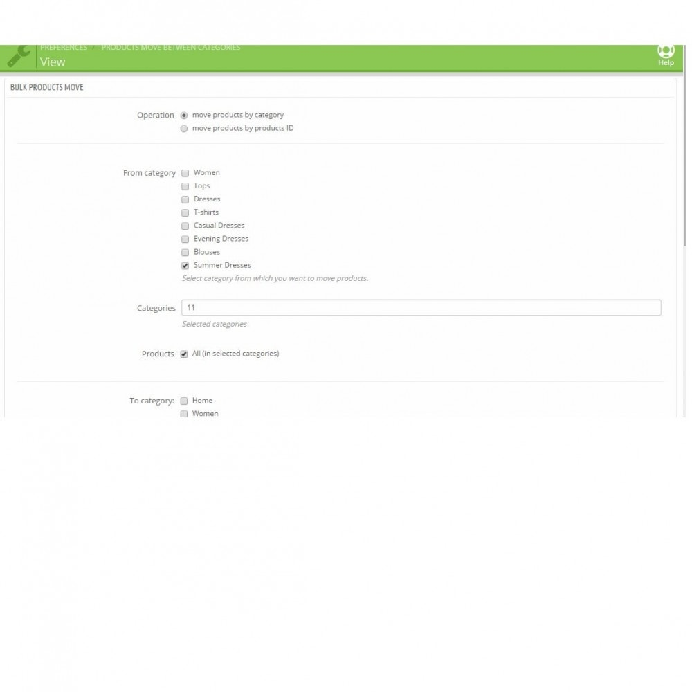 module - Snelle & seriematige bewerking - Mass products move/associate between categories - 1