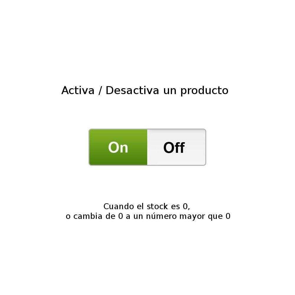 module - Gestión de Stock y de Proveedores - Activa-desactiva un producto cuando el stock cambia - 1