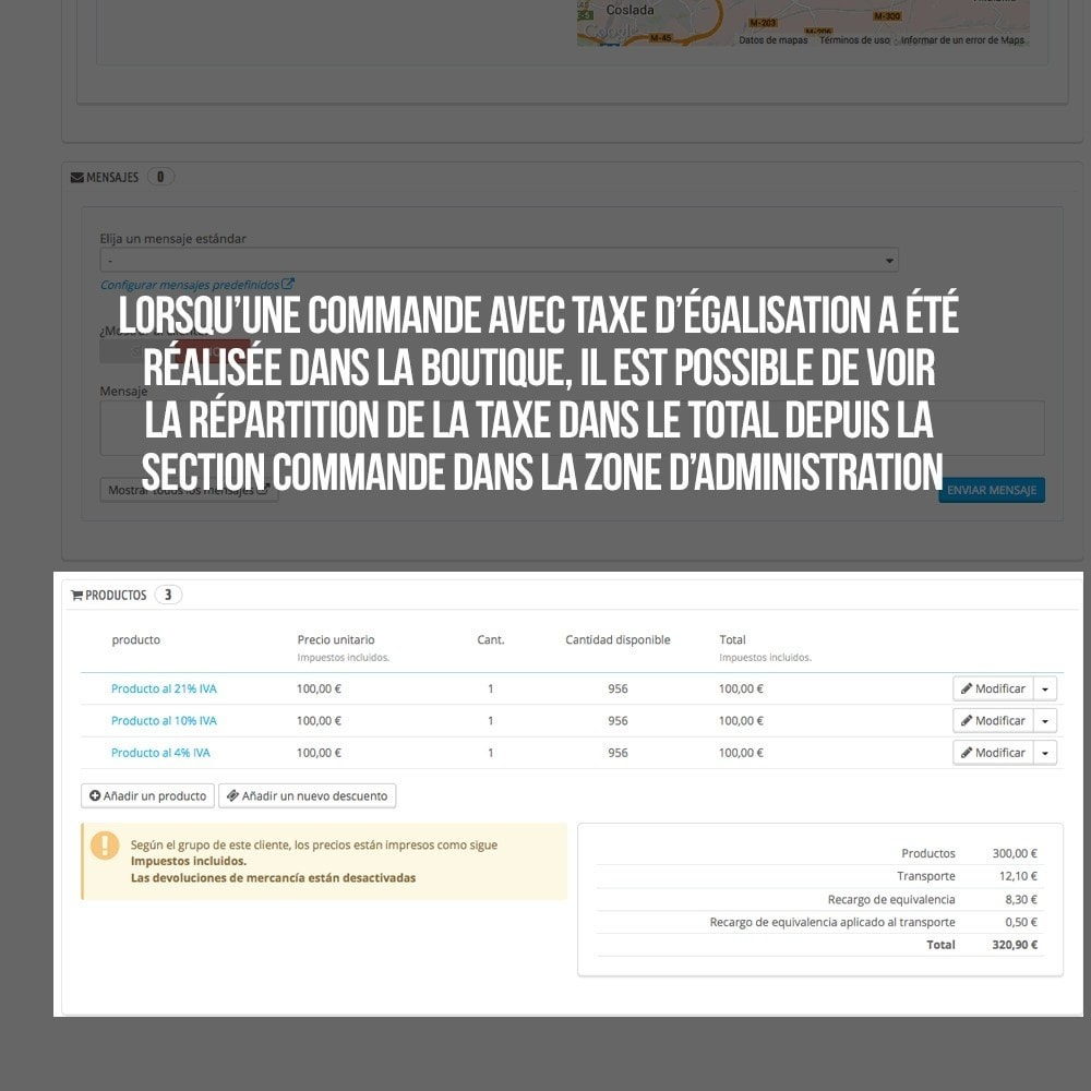 module - B2B - Appliquer Taxe d'égalisation aux commandes et factures - 22