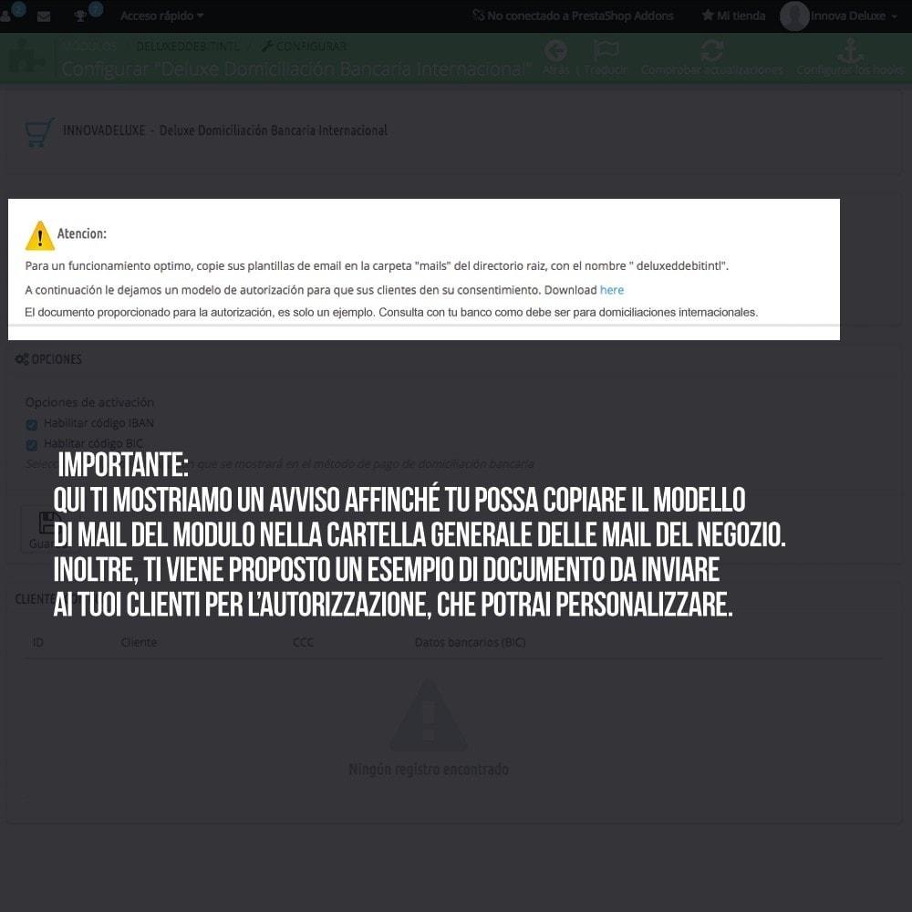 module - Pagamento con Bonifico - Addebito diretto (bonifico bancario) internazionale - 4