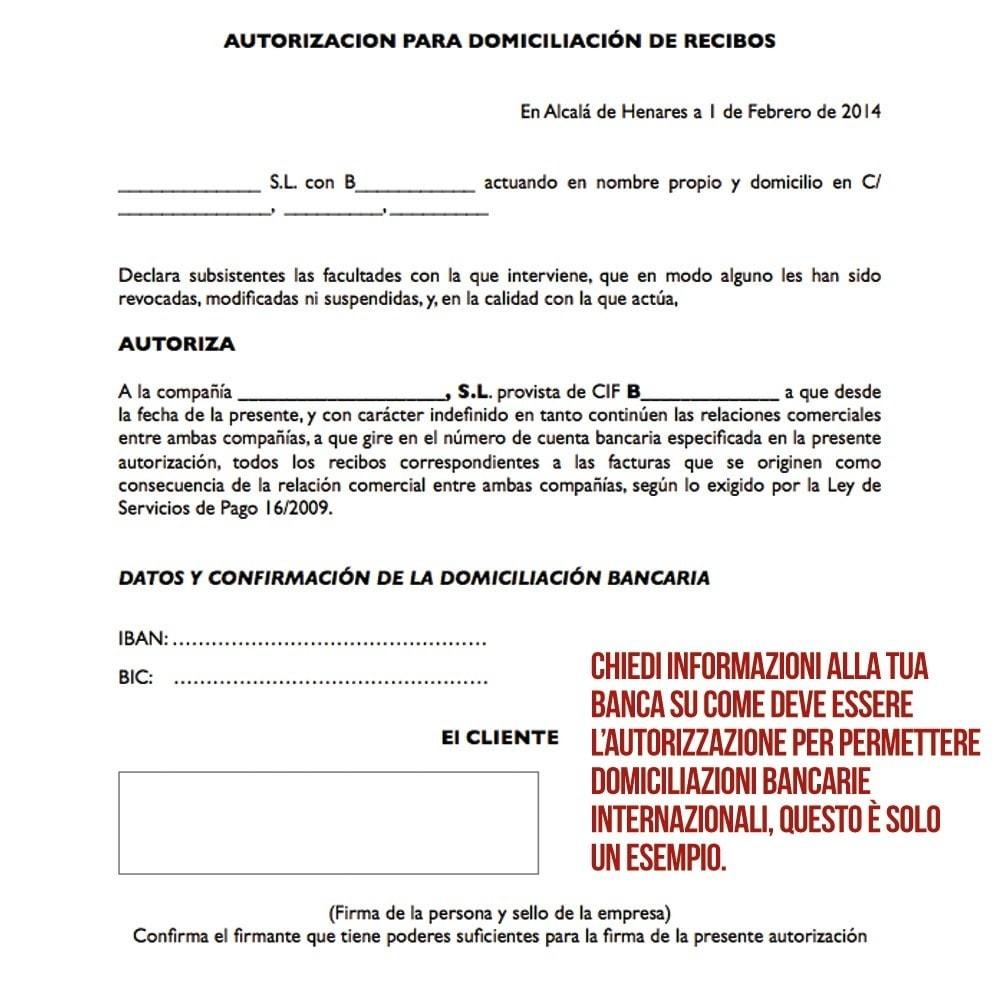 Addebito diretto (bonifico bancario) internazionale - PrestaShop Addons