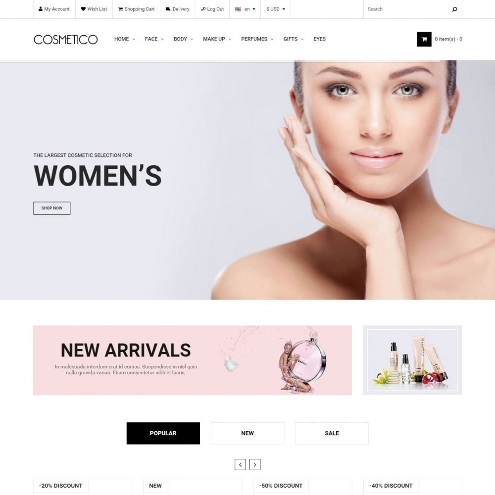 theme - Здоровье и красота - Cosmetico - Магазин Косметики - 1
