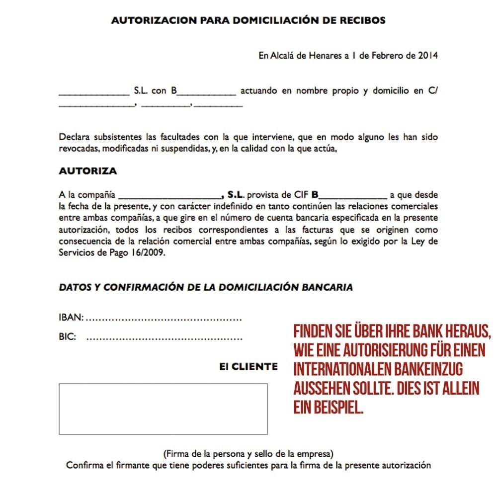 module - Zahlung per Überweisung - Internationaler Bankeinzug (Banküberweisung) - 5