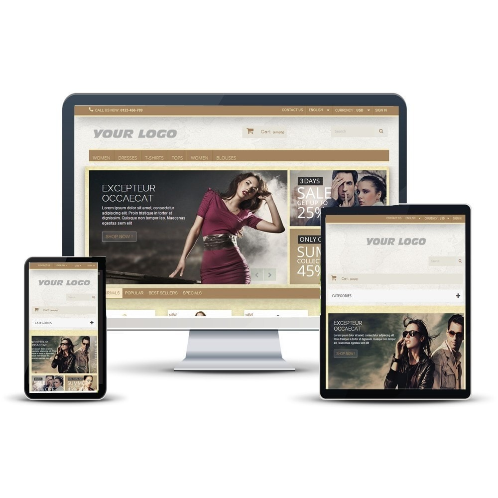 theme - Fashion & Shoes - Super Neutral - Prestashop Responsive 2 - 1