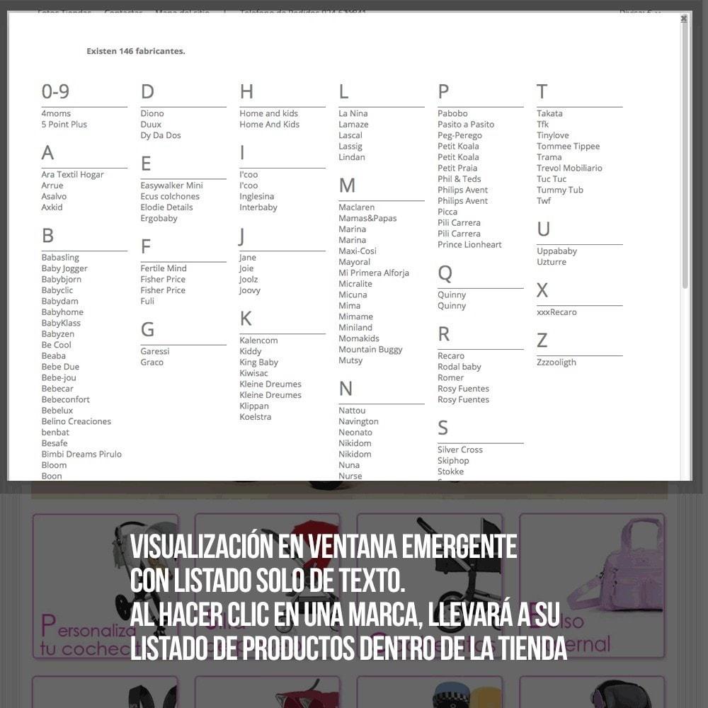 module - Búsquedas y Filtros - Buscador alfabético de fabricantes o proveedores - 8