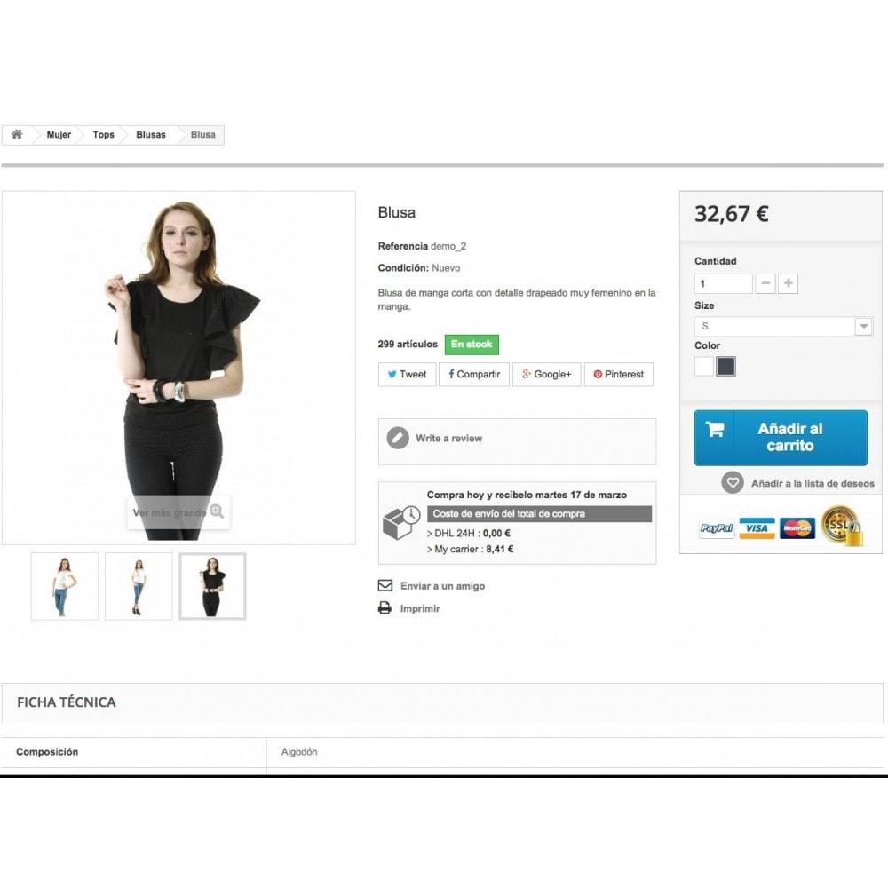 module - Fecha de entrega - Tiempo y coste de envío por producto - 2