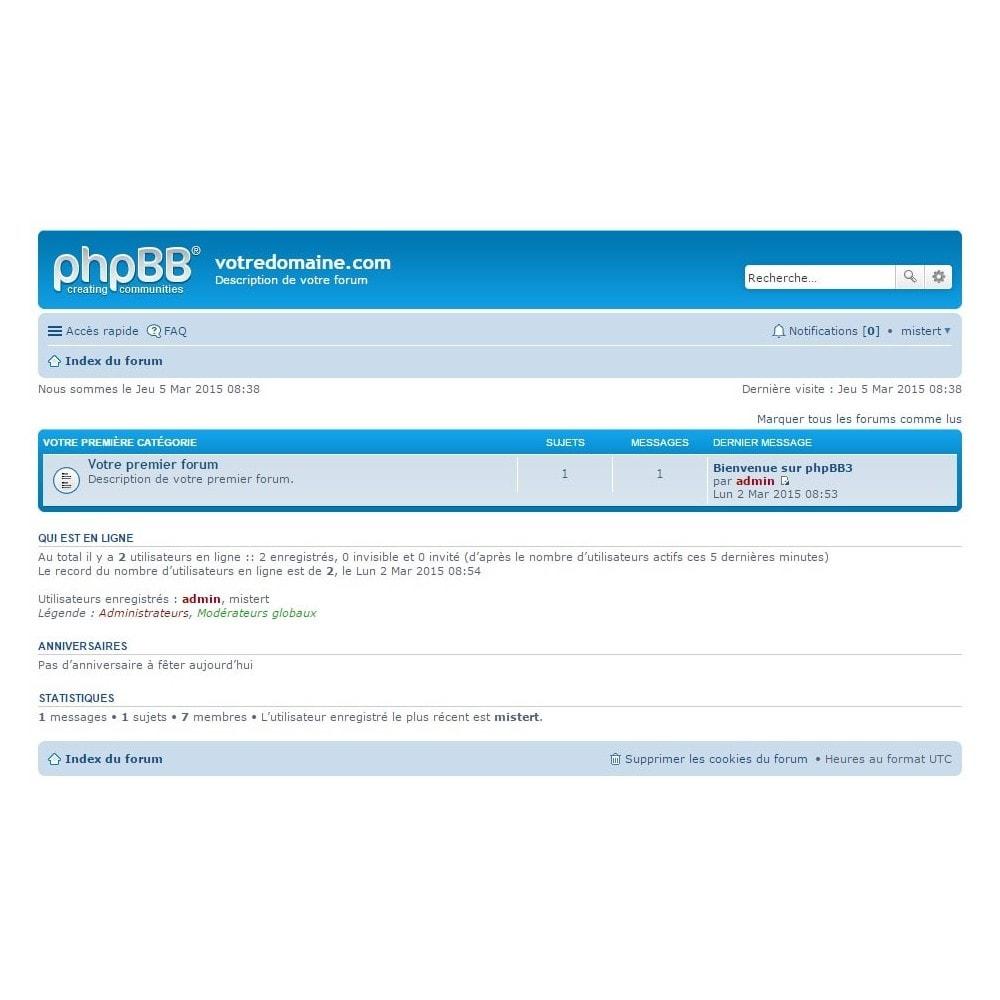 module - Blog, Forum & Actualités - phpBB Authentification - 1