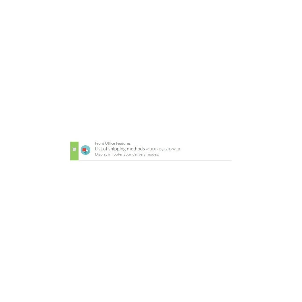 module - Odznaki & Logo - Logos des modes de livraisons - 2