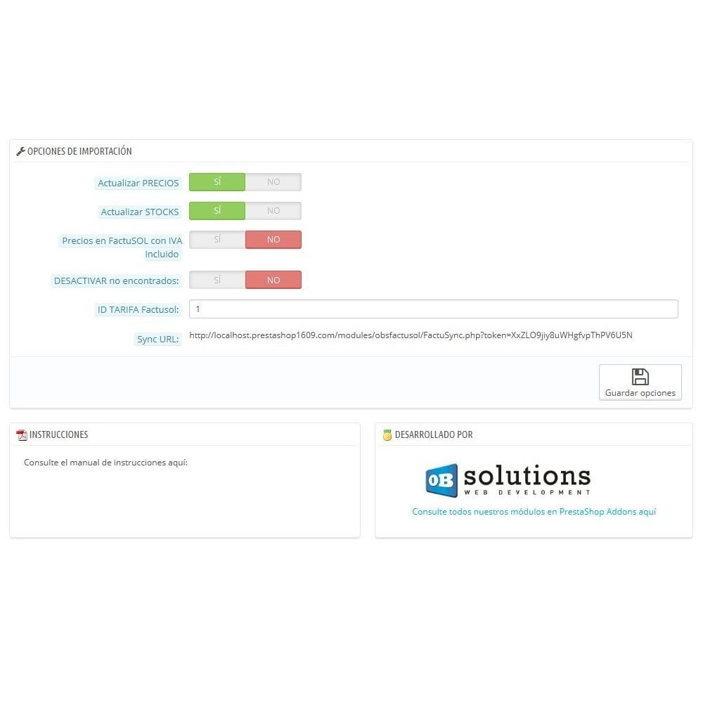module - Third-party Data Integration (CRM, ERP...) - Basic FactuSOL Connector - 3