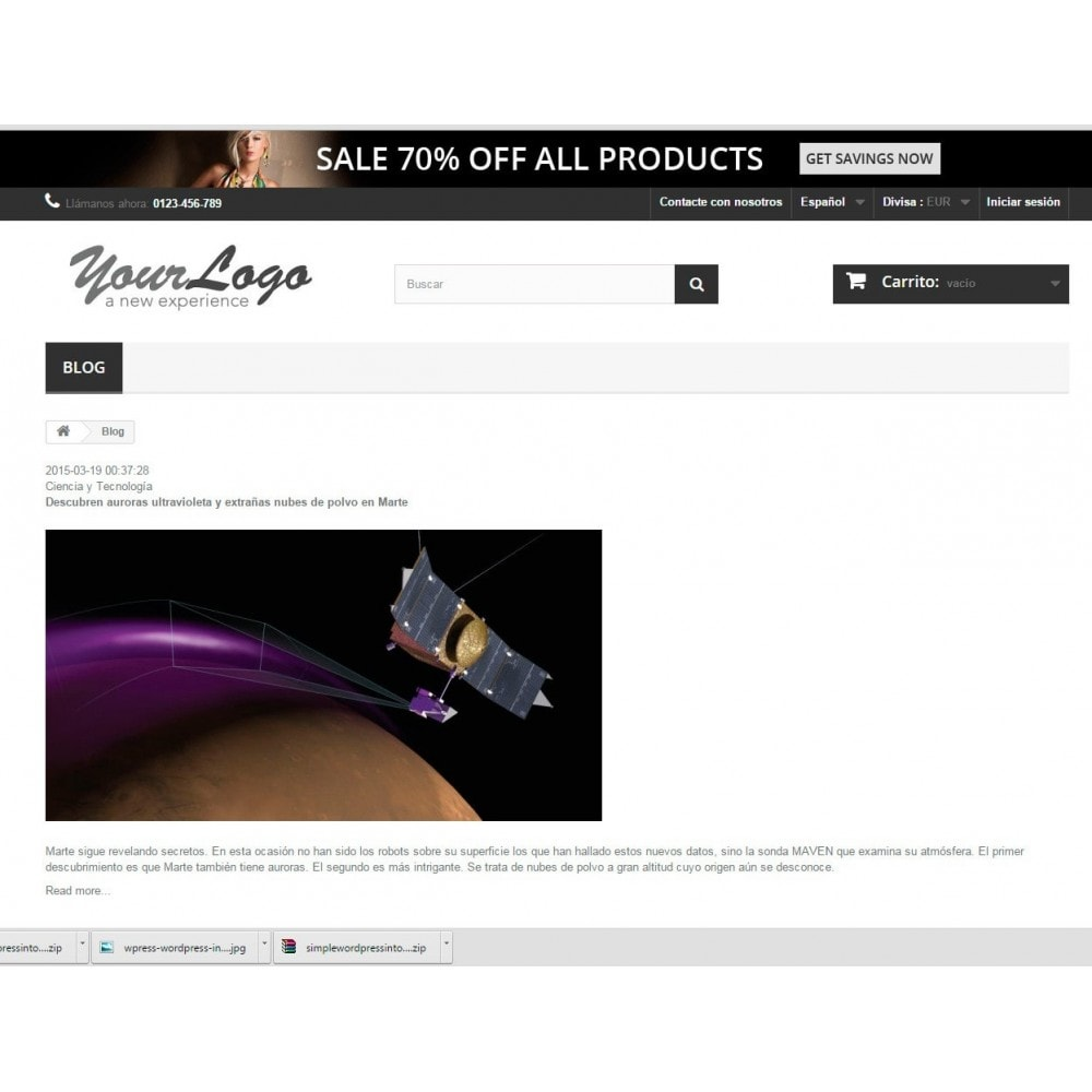 module - Blog, Forum & News - Simple Wordpress Into PrestaShop - 3
