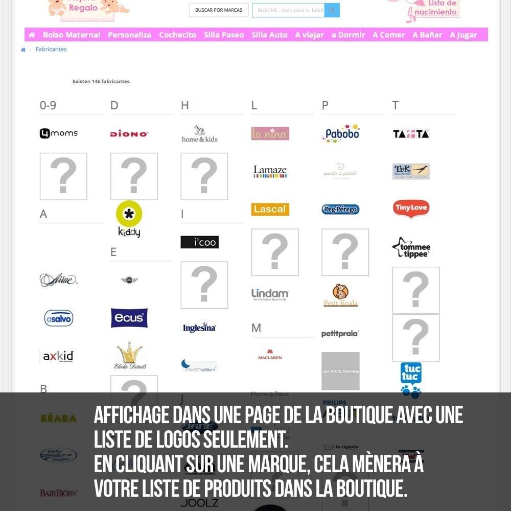 module - Recherche & Filtres - Moteur de recherche alphabétique de marques (fabricant) - 12