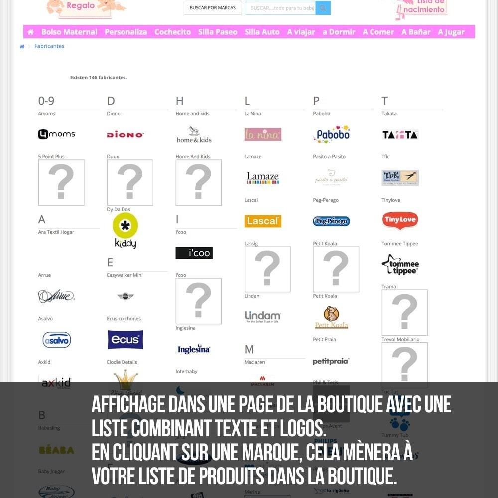 module - Recherche & Filtres - Moteur de recherche alphabétique de marques (fabricant) - 13