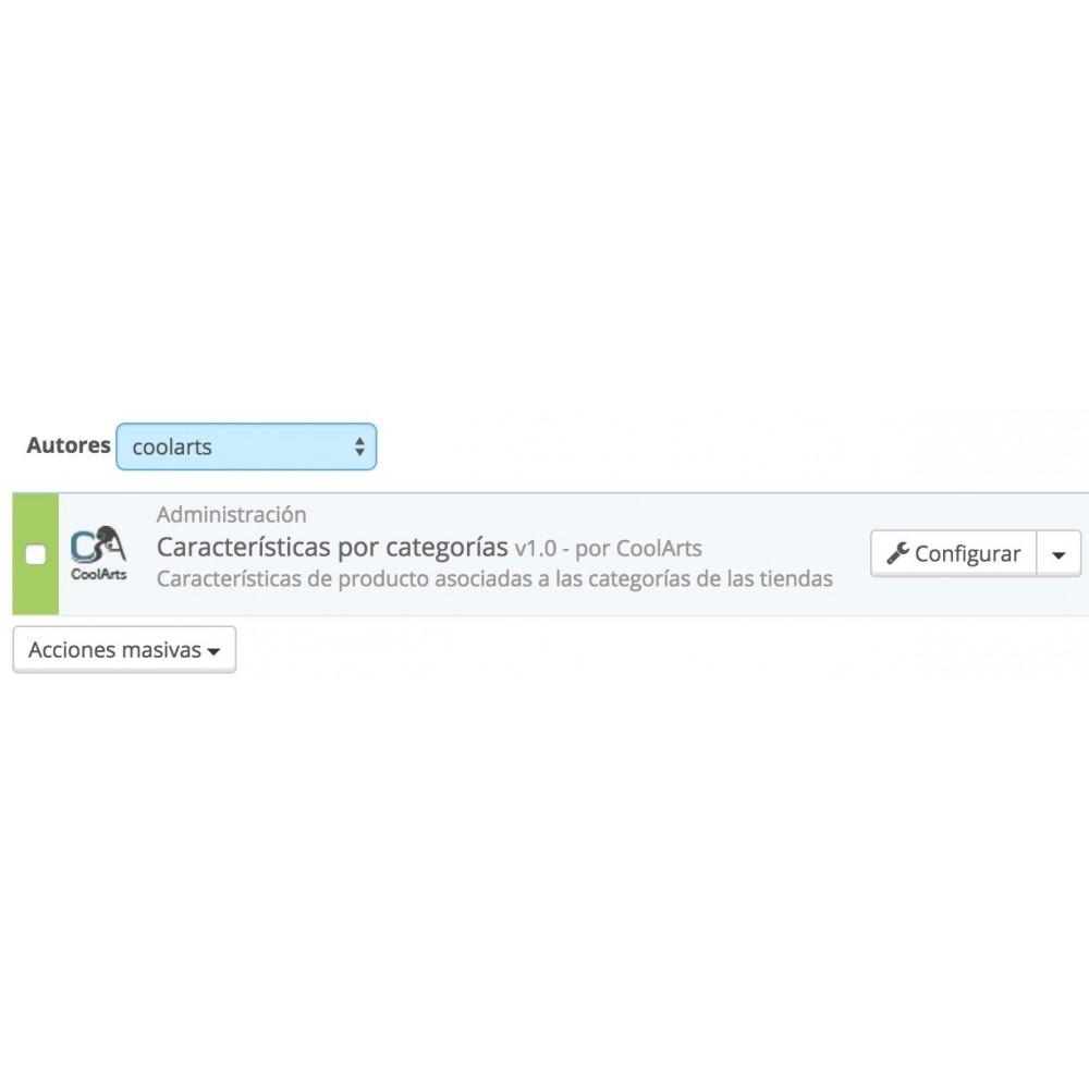 module - Herramientas Administrativas - Características en categorías - 3