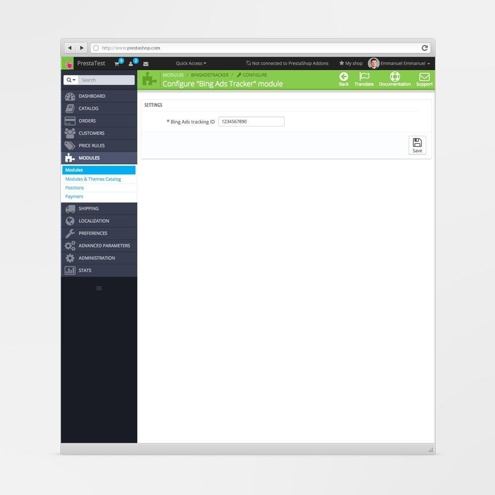 module - Analysen & Statistiken - Bing Ads Conversion Tracking - 2