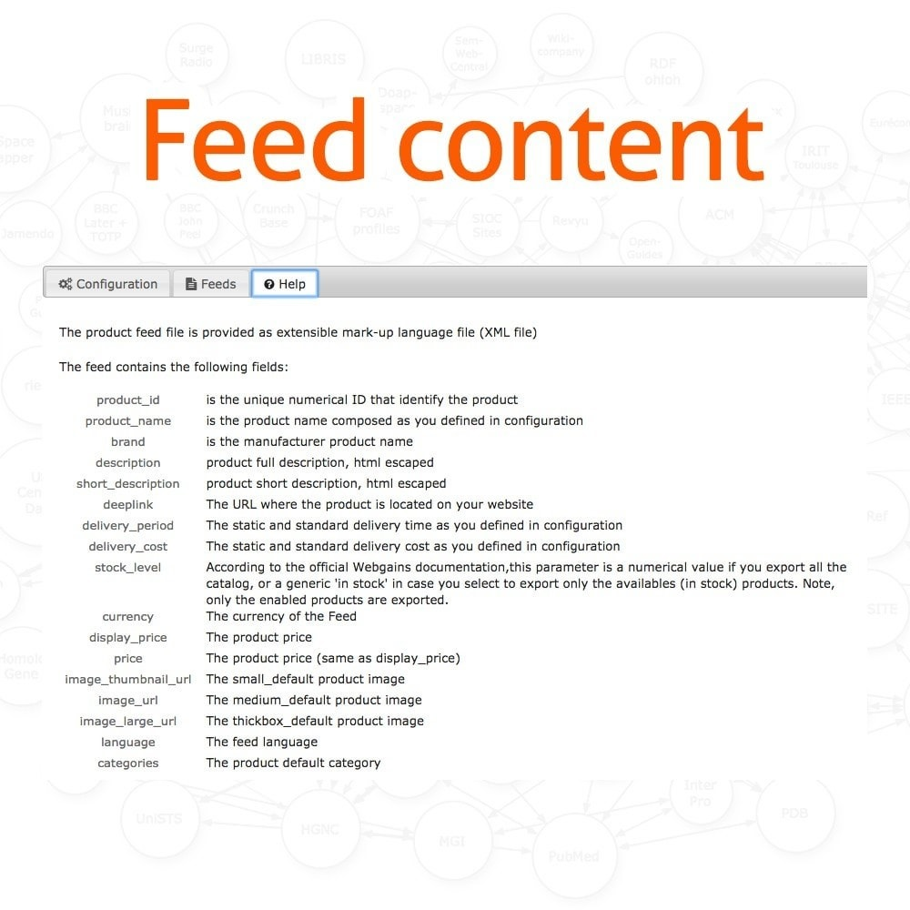 module - Daten Im-&Export - WebGains Basic Feed Generator - 4