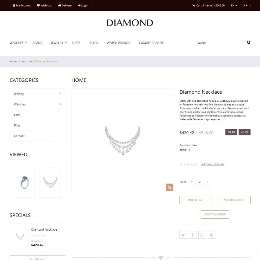 theme - Jewelry & Accessories - Diamond - Jewelry Store - 2