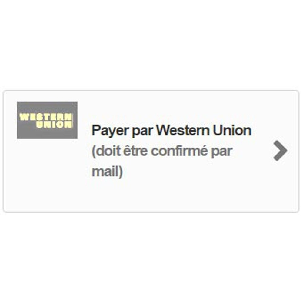module - Andere betaalmethodes - Western Union Payment - 2