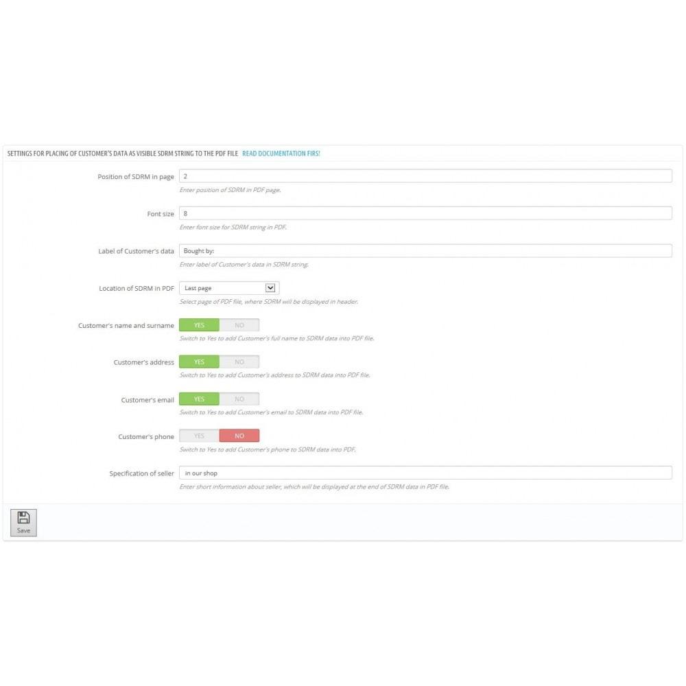 module - Produits virtuels (téléchargeables) - Social Digital Rights Management for EPUB, PDF, ZIP - 2