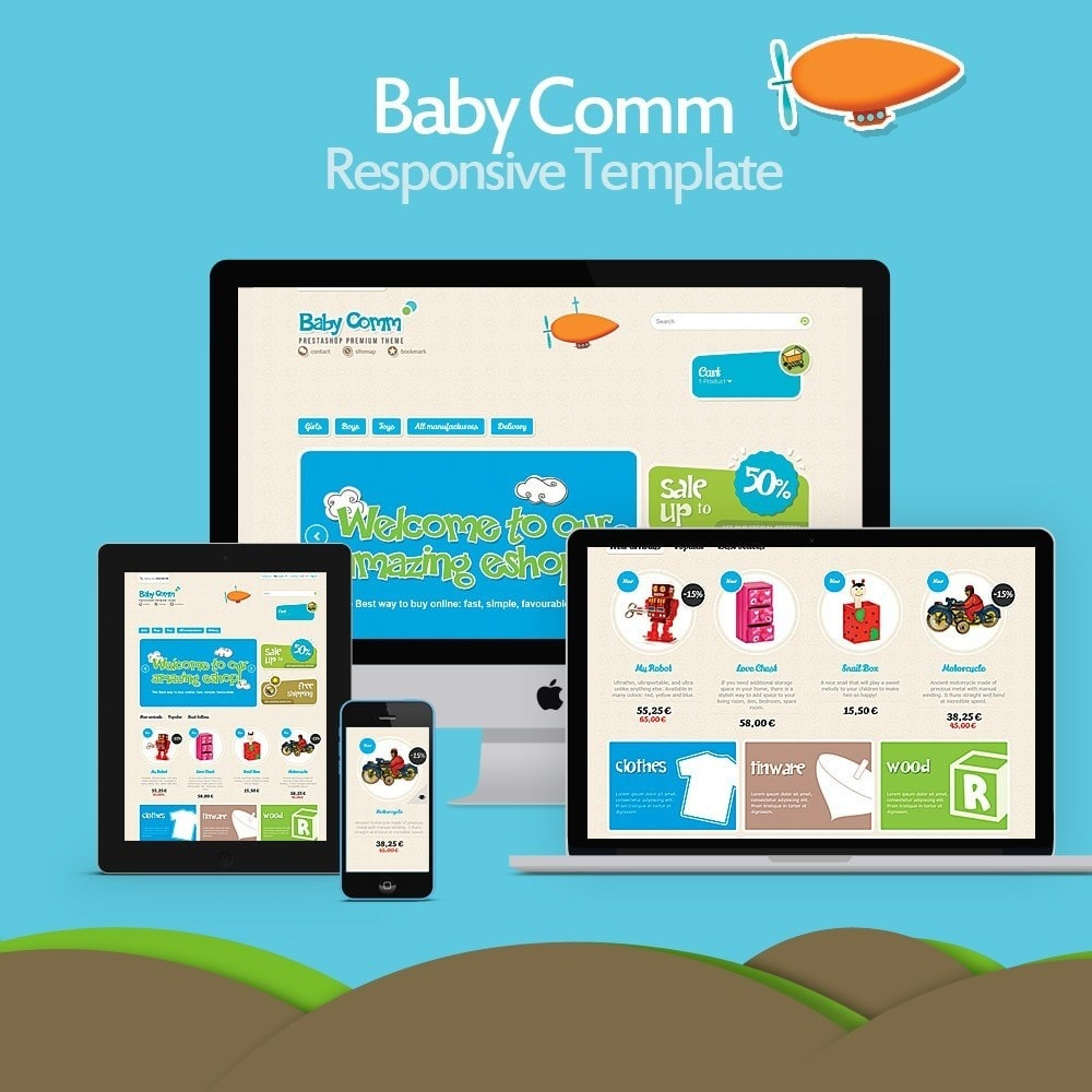 theme - Zabawki & Artykuły dziecięce - Baby Comm Responsive - 1