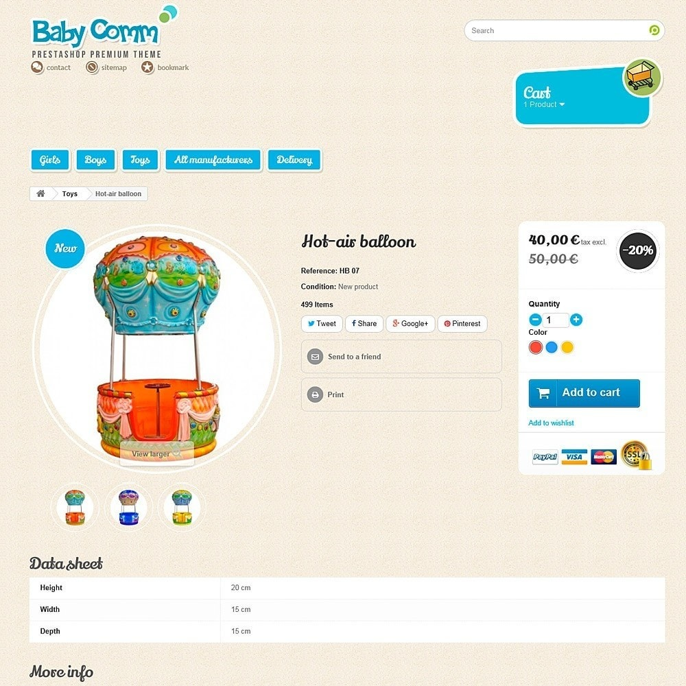 theme - Kids & Toys - Baby Comm Responsive - 7