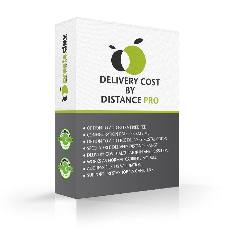 module - Frais de port - Delivery cost by distance - 1