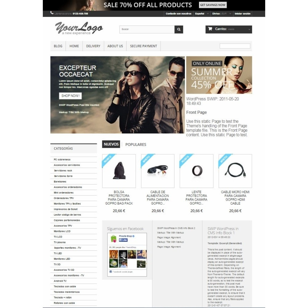 module - Blog, Foro y Noticias - Simple WordPress Into PrestaShop - 3