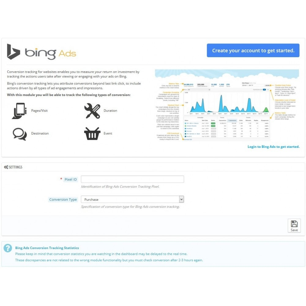 module - Analyses & Statistieken - Bing Ads Conversion Measurement (Tracking Pixel) - 3