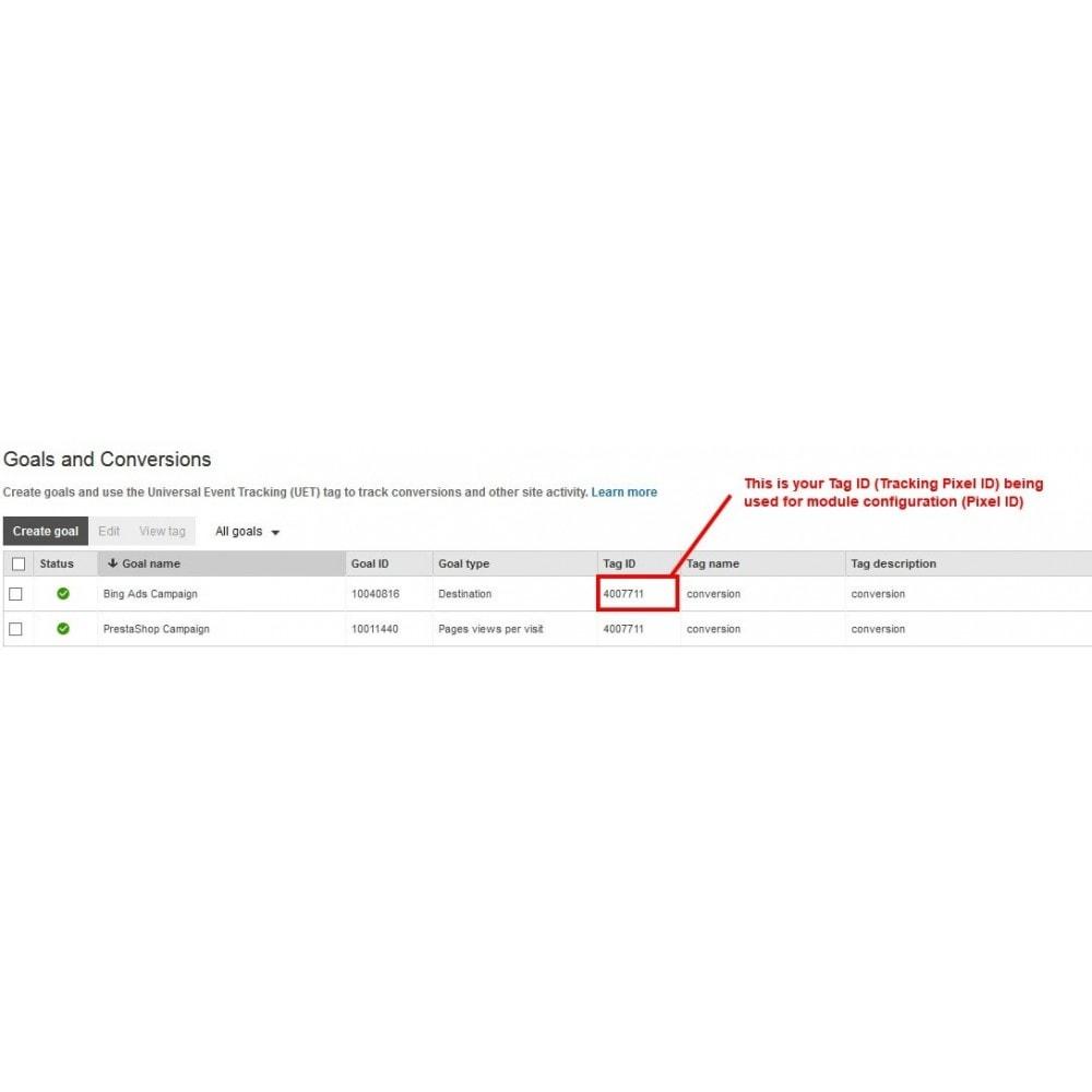 module - Analyses & Statistieken - Bing Ads Conversion Measurement (Tracking Pixel) - 4
