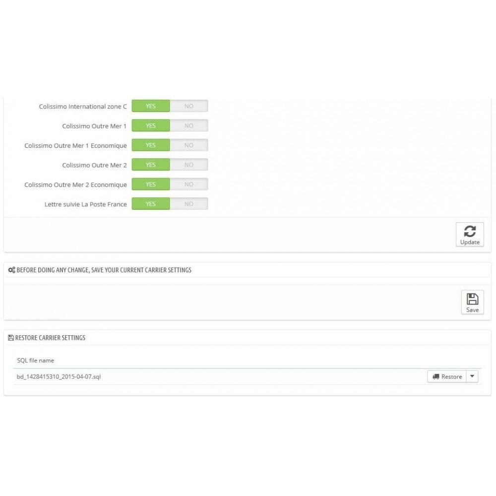 module - Koszty wysyłki - Shipping mail (FR, International) - 2