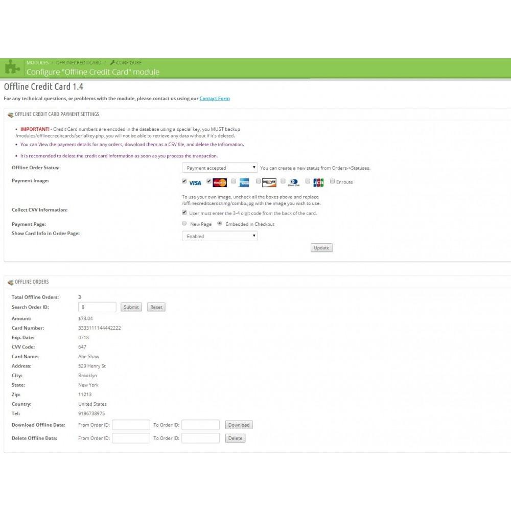 module - Paiement par Carte ou Wallet - Offline Credit Card - 3