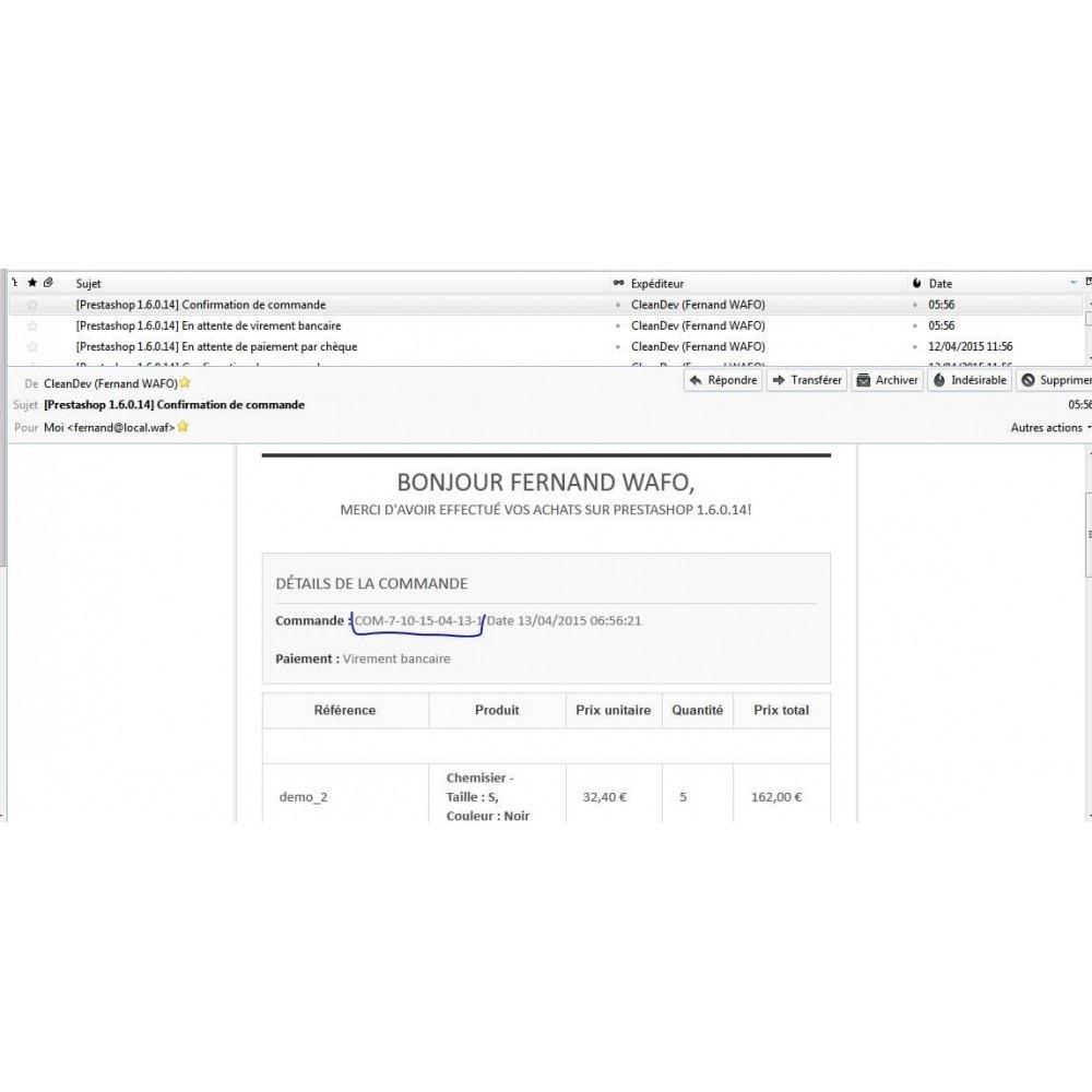module - Gestion des Commandes - Format de références commandes à votre gré - 4